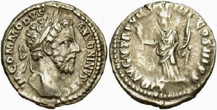 Commodus Roomalaisessa kolikossa.
