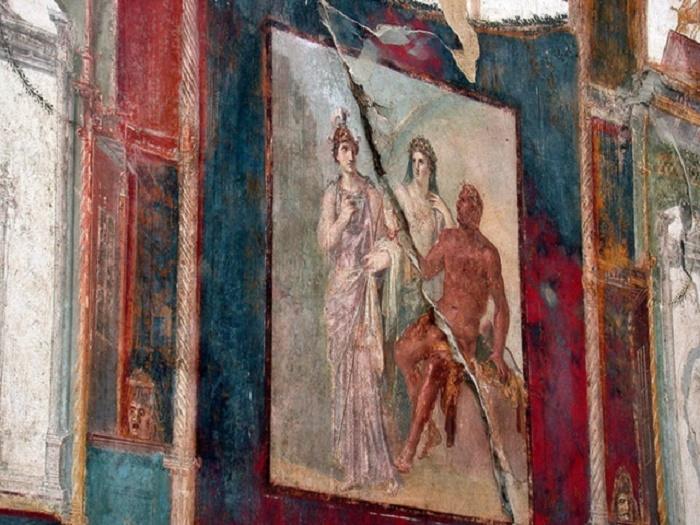 Fresco Herculaneumissa. Kuva: Graig Willis.