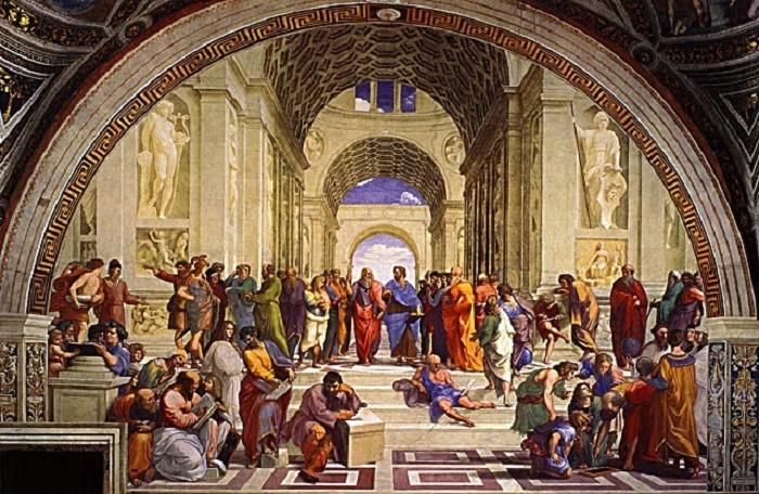 Ateenan Koulu on Rafaelin tunnetuimpia freskomaalauksia. Se on maalattu vuosina 1509-1510. Upean maalauksen keskellä näkyvät Platon ja Aristoteles kirja kädessään.