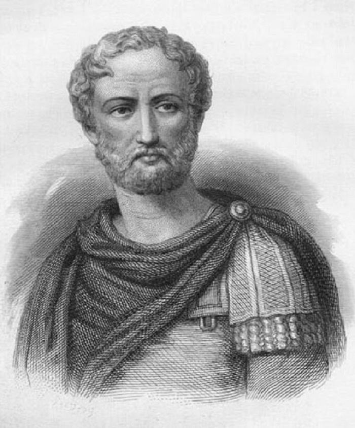 Pliniusta esittävä muotokuva.