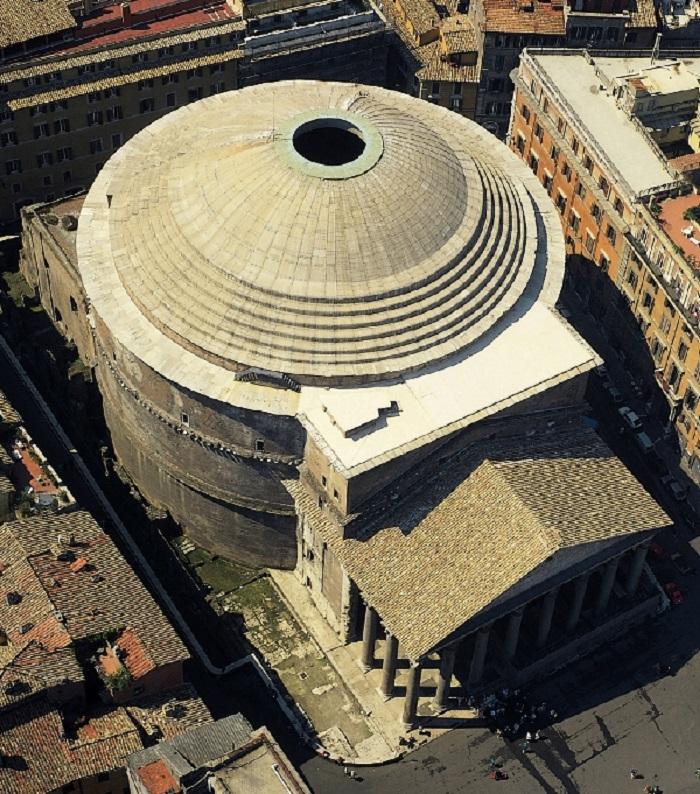 Pantheon ylhäältä päin kuvattuna.