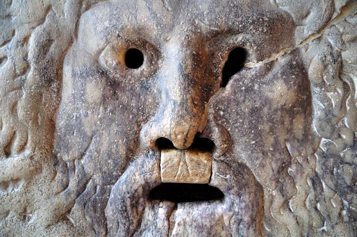 Totuuden suu, yksityiskohta. Valokuva: Rome.Net