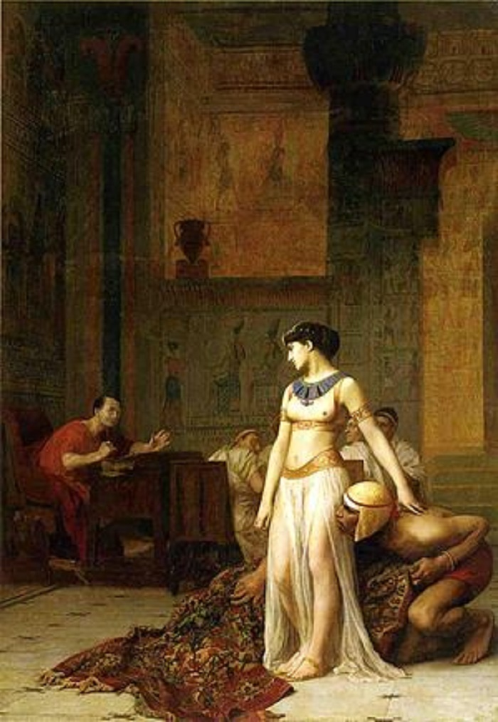 Kuuluisa tarinan on ikuistanut maalaukseensa myös rankalainen taiteilija Jean-Léon Gérôme (1824-1904). Maalaus on vuodelta 1866.
